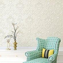 Echte 3D geprägte Vliesstoffe Prägung Tapete Blumen Tapete Wohnzimmer Schlafzimmer gehobenen Hintergrund Tapeten , meters white wj507