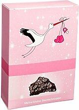 Echte Sternschnuppe in Geschenkbox zur Geburt und Taufe (Für Mädchen)