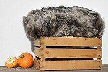 echte Toscana Lammfelldecke 200x155 cm coyote