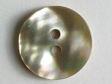 Echter Perlmuttknopf - Größe: 15mm - Farbe: beige