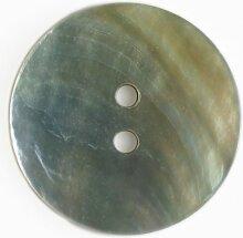 Echter Perlmuttknopf - Größe: 28mm - Farbe: weiss