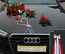 ECHTER ROSESTRAUSS Auto Schmuck Braut Paar Rose