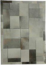 Echtfell Teppich mit Patchworkmuster Industry