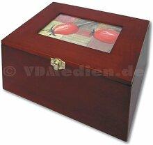 Echtholz-Foto-Box, Aufbewahrungsbox, Holzkiste,