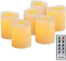 Echtwachs Flammenlose LED-Kerze Fernbedienung