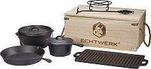 ECHTWERK Topf-Set Dutch Oven, Gusseisen, (Set, 7