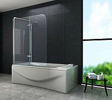 Eck-Duschtrennwand AROUND 80 (Badewanne)