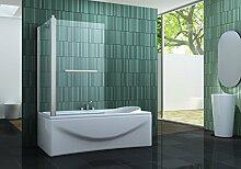 Eck-Duschtrennwand INTREXO 80 (Badewanne)