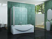 Eck-Duschtrennwand PERINTO 80 (Badewanne)