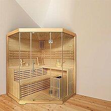 Eck-Sauna für 4 Personen, B 1,8m, mit