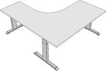 Eck-Schreibtisch elektrisch höhenverstellbar