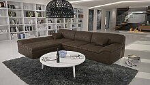 Eck-Sofa in Antik-Optik Dunkelbraun L-Form 270x220