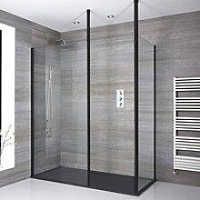 Eck Walk-In Duschabtrennung mit Duschtasse im
