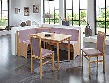Eckbankgruppe Beringen Buche natur 165x125 cm 2x Stuhl Esstisch Eckbank Essgruppe Truhenbank Esszimmer Küche Tisch