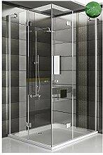 Eckeinstieg Dusche Duschwand Duschkabine inkl.