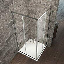 Eckeinstieg Duschkabine 76 x 90 cm Duschabtrennung