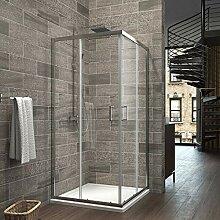 Eckeinstieg Duschkabine 80 x 90 cm Duschabtrennung