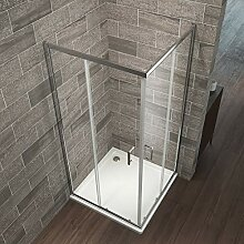 Eckeinstieg Duschkabine 90 x 90 cm Duschabtrennung