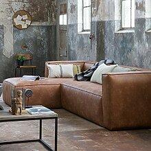 Eckgarnitur BEAN Leder cognac Couch Polster Sofa