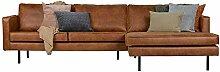 Eckgarnitur Rodeo Leder Cognac Couch Sofa Ecksofa