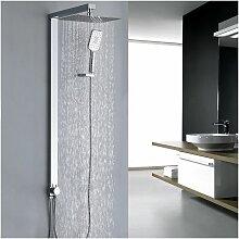 eckig Duschsystem ohne Armatur Duschset mit