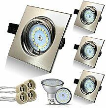 Eckig LED Set 4 Stück Einbaustrahler 5W 18PCS