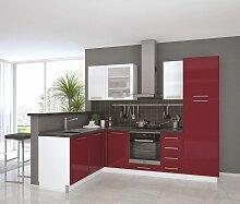 Eckküchenblock Fagali 34, 9-teilig, Farbe: Weiß