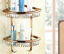 Eckregal Antik Kupfer Dreieck Korb Badezimmer