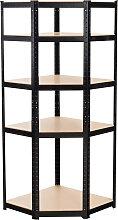 Eckregal Flint-schwarz-180 cm