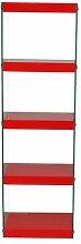 Eckregal Tabitha Ebern Designs Farbe: Rot