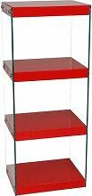 Eckregal Yasmin Ebern Designs Farbe: Rot