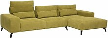 Ecksofa Ebern Designs Polsterfarbe: Anthrazit,