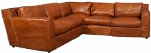 Ecksofa Leder Redhill 5-Sitzer Columbia Brown Sofa