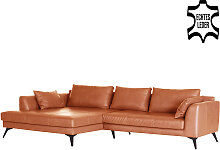 Ecksofa - Manhattan Recamiere Links - Braun