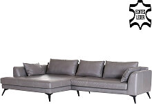 Ecksofa - Manhattan Recamiere Links - Grau