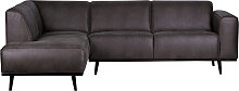 Ecksofa - Statement Recamiere Links - Grau