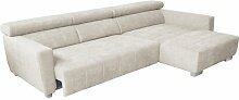 Ecksofa Veronica Perspections Polsterfarbe: Creme,