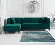 Ecksofa Willa Arlo Interiors Textil: Grüner Samt,