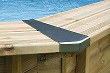 Eckverbindung Edelstahl (8 Stück) für Giant Wood und Bali Ovalpools 4,00m x 6,40m / 4,90m x 8,40m