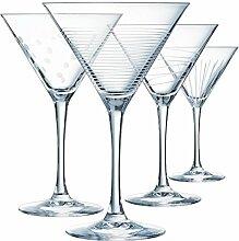 ECLAT Illumination Set von 4Gläser Cocktail 300ml, Glas