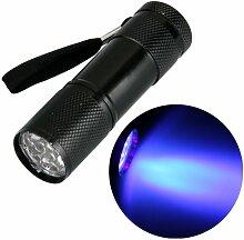Ecloud Shop 9 LED UV Lampe Torch Taschenlampe Leuchte für Outdoor