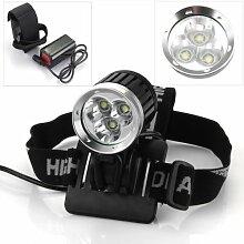 Ecloud Shop® CREE XM-L 3 T6 LEDs 4200LM Kopflampe