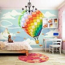 Eco Balloon Trip, Schlafzimmer, Wohnzimmer, Hintergrund, Wand, Tapete, g