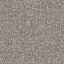 ECO Crayon 3917 Vlies-Tapete Uni schraffiert dunkelbraun - Wood Taupe