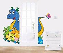 Eco freundliche Dinosaurierkarikaturwandaufkleber