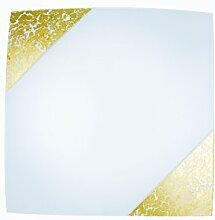 Eco Light I-PARIS/3030 ORO A++, Deckenleuchte, Glas, 60 W, gold, 30 x 30 cm