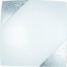 Eco Light I-PARIS/4040 SIL A++, Deckenleuchte, Glas, 60 W, silber, 40 x 40 cm