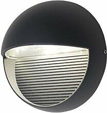 Eco Light Moderne LED-Außenwanleuchte Radius, 440 lm, 9 W, Durchmesser 16,5 cm, anthrazit 1865 GR