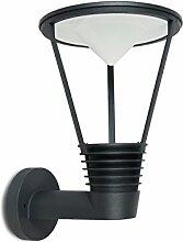 Eco Light Moderne LED-Wandaußenleuchte Ladi, Aluminiumguß, 310 lm, 8,5 W, IP44, anthrazit 2631 S GR