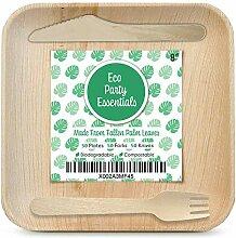Eco Party Essentials Palmblatt-Teller-Set, 20 cm,